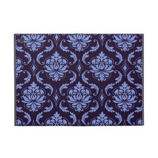Blue Black Damask Vintage Pattern iPad Mini Cases