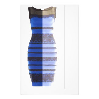 Blue Black Dress White & Gold Split Photo Pic Stationery