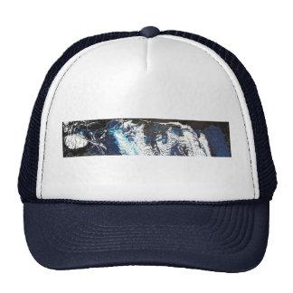 Blue Black Drip Mesh Hats