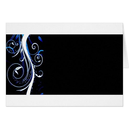 blue black elegant card