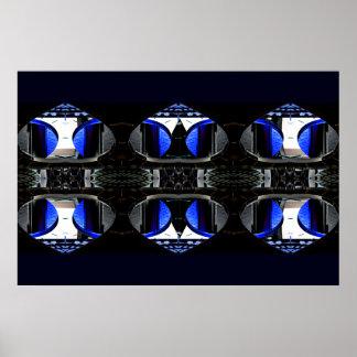 Blue & Black Extreme Design Poster 2 CricketDiane