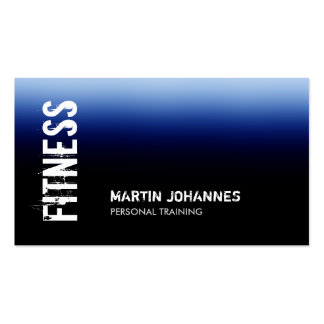 Blue Black Fitness Personal Trainer Business Card