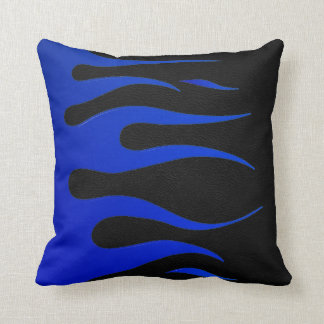 Blue & Black Flame American MoJo Pillow