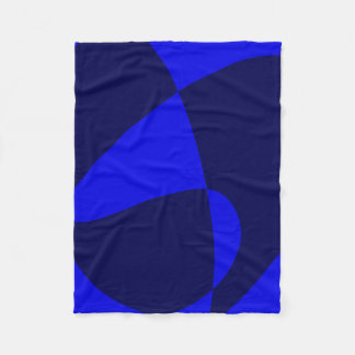 Blue Black Fleece Blanket