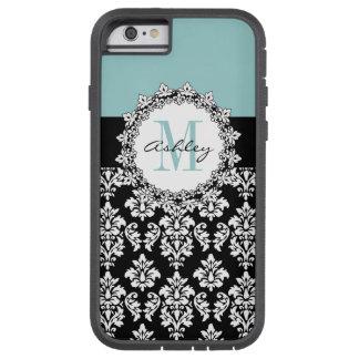 Blue Black Fleur de Lis Damask Monogram Tough Xtreme iPhone 6 Case