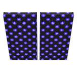 blue black floral pattern stretched canvas print