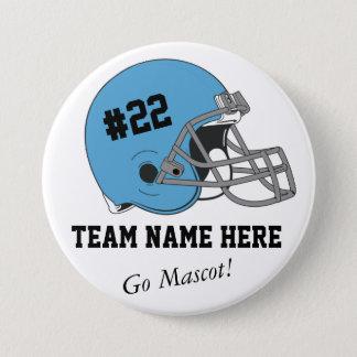 Blue Black Football Helmet•Custom Pinback Button