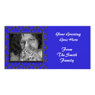 blue black frame card