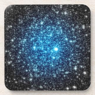Blue & Black Galaxy Drink Coaster