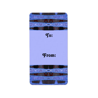 blue black gift tags