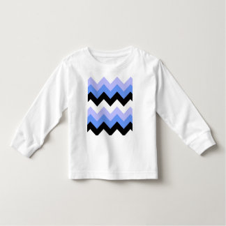 Blue, Black, Grey Chevron Pattern Toddler T-shirt