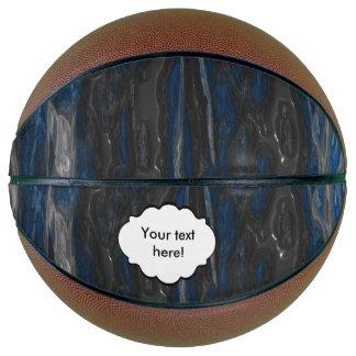 Blue black grunge texture basketball