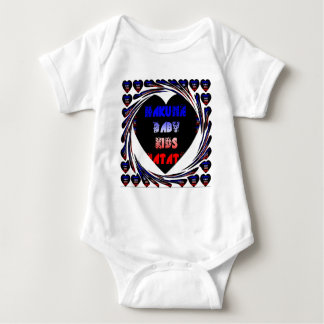 Blue Black Hakuna Matata Baby Kids Design.png Baby Bodysuit