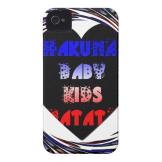 Blue Black Hakuna Matata Baby Kids Design.png iPhone 4 Case-Mate Case