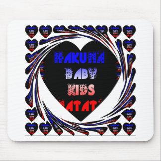 Blue Black Hakuna Matata Baby Kids Design.png Mouse Pad