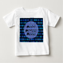 Blue black harlequin pattern baby T-Shirt