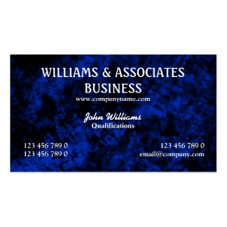 Blue black interior design art Double-Sided standard business cards (Pack of 100)