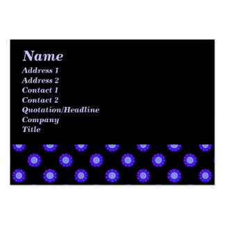 blue black kaleidoscope pattern large business cards (Pack of 100)