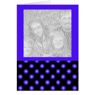 blue black kaleidoscope pattern photo frame card