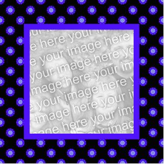 blue black kaleidoscope photo frame cutout