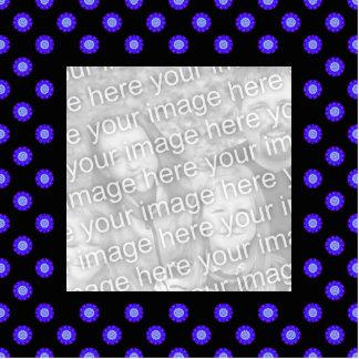 blue black kaleidoscope photo frame statuette