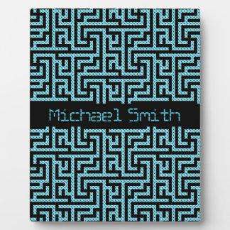 Blue & Black Labyrinth Plaque