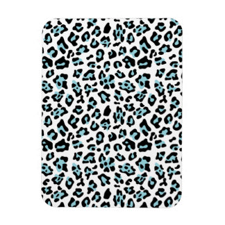 Blue Black Leopard Animal Print Pattern Rectangle Magnets