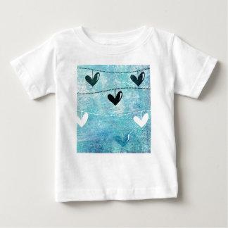 Blue & Black Love on a String Design Baby T-Shirt