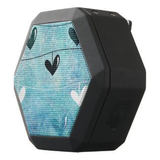 Blue & Black Love on a String Design Black Bluetooth Speaker