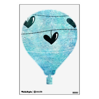 Blue & Black Love on a String Design Wall Decal