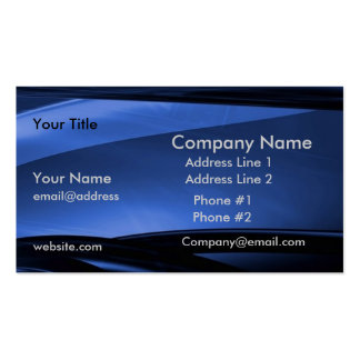 Blue Black Modern Business Profile Card Double-Sided Standard Business Cards (Pack Of 100)