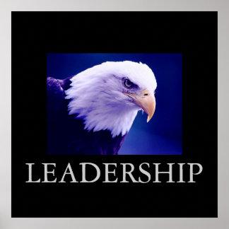 Blue Black Motivational Leadership Eagle Poster