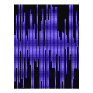 BLUE BLACK MUSIC BEATS VOLUME RECORDING DIGITAL FLYER