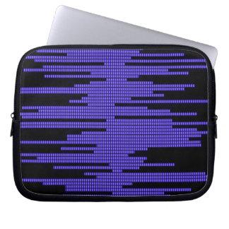 BLUE BLACK MUSIC BEATS VOLUME RECORDING DIGITAL LAPTOP COMPUTER SLEEVE