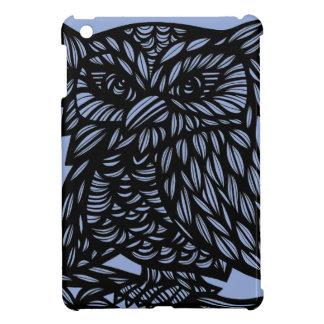Blue Black Owl Artwork Drawing Case For The iPad Mini
