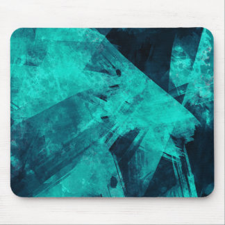 Blue-Black painting Mouse Pad