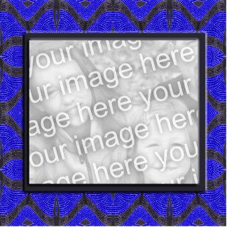 blue black photoframe cutout