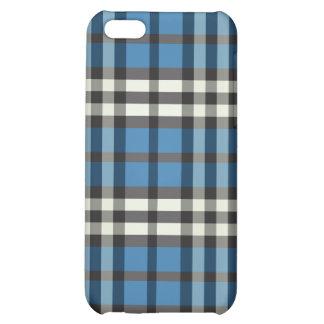 Blue/Black Plaid Pern iPhone 5C Case