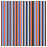 [ Thumbnail: Blue, Black, Red, Light Cyan Stripes Pattern Fabric ]