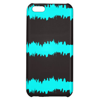 Blue & Black Ripple Claw marks Cover For iPhone 5C