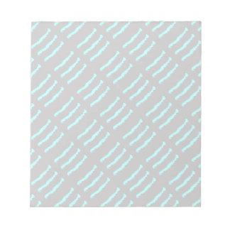 Blue & Black Ripple Claw marks Notepad
