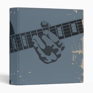 Blue & Black Rustic Guitar Player Vinyl Binders