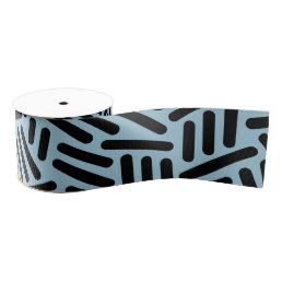 Blue black seamlses monogram Pattern ribbon