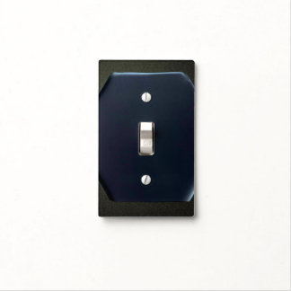 BLUE BLACK SINGLE TOGGLE LIGHT SWITCH SWITCH PLATE COVER