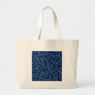 Blue Black Sparkle Abstract Formation Pattern GIFT Bag