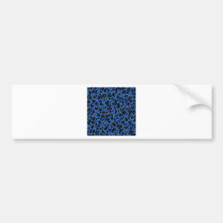 Blue Black Sparkle Abstract Formation Pattern GIFT Bumper Stickers