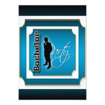 Blue black stylish mens party card