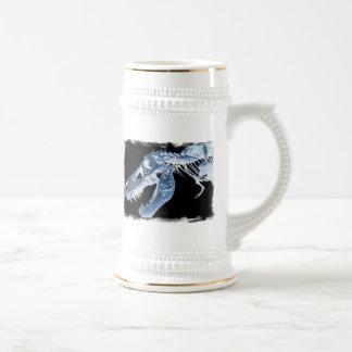 Blue & Black T-Rex X-Ray Bones Photo Beer Stein