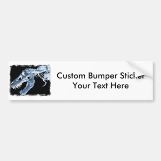 Blue & Black T-Rex X-Ray Bones Photo Bumper Sticker