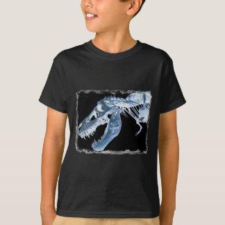 Blue & Black T-Rex X-Ray Bones Photo T-Shirt